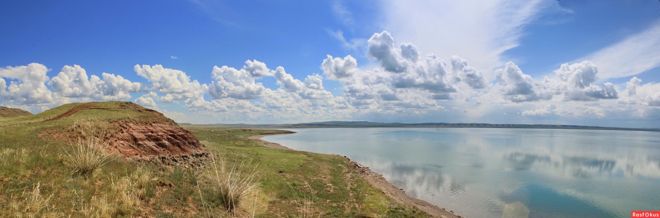 Фото: Панорама фото -Озеро Белё в Хакасии. Фотограф Галина Кузнечевская. Панорама - Фото и фотограф на Расфокусе.