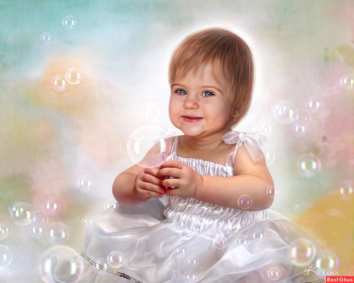 Обработка ребенка на фото