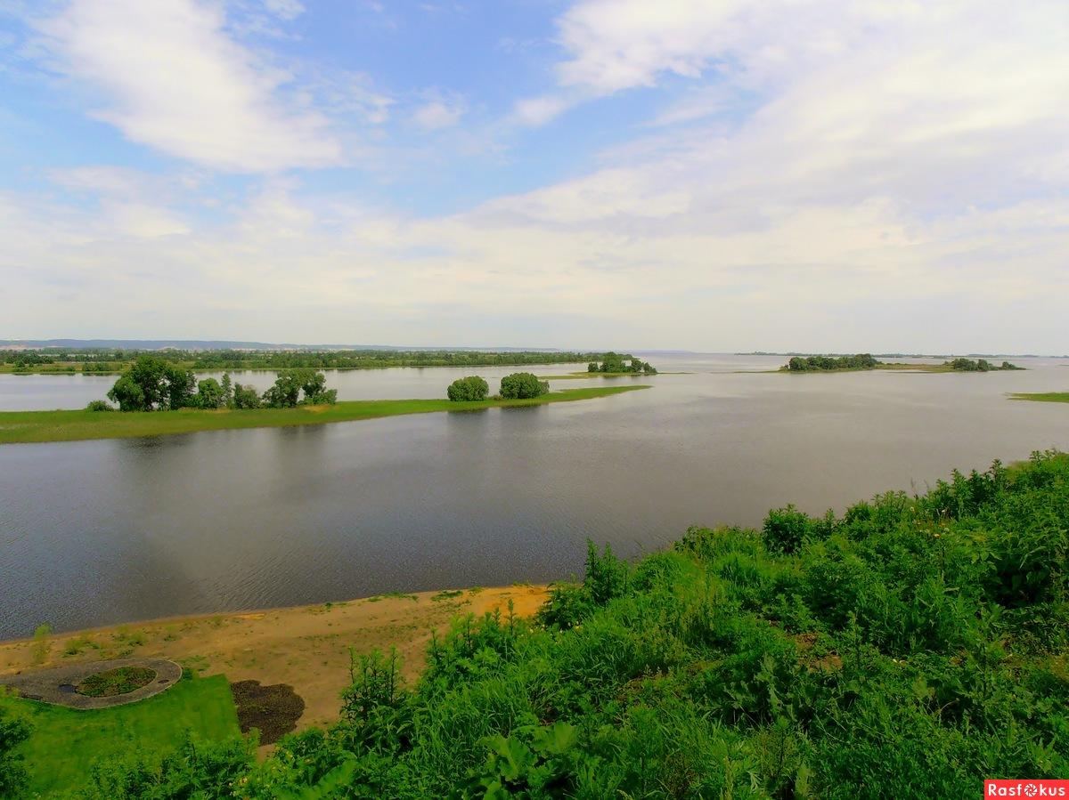 Вид на Волгу с Булгарского городища.