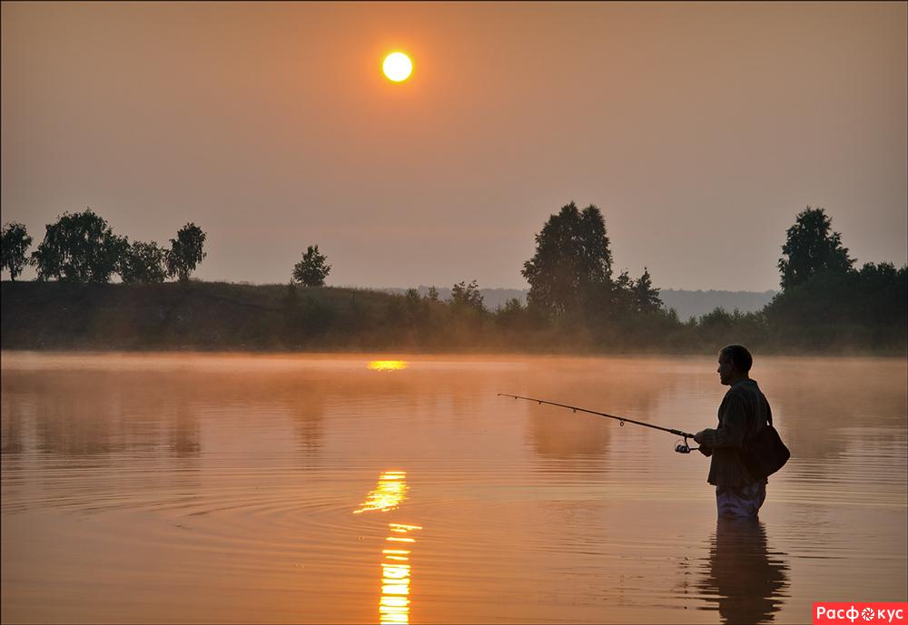 закат на рыбалке картинки