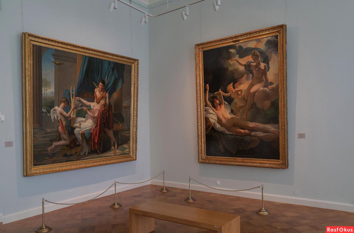 Картины школы тонкой живописи лейденского периода занимают особое место в экспозиции.