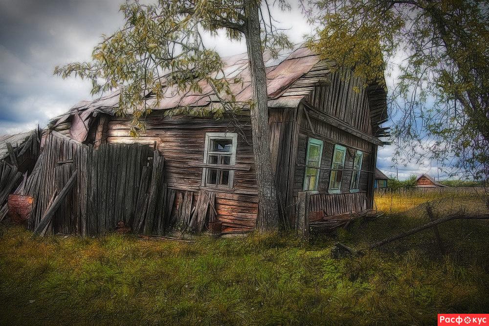Фото старый деревенском доме 190