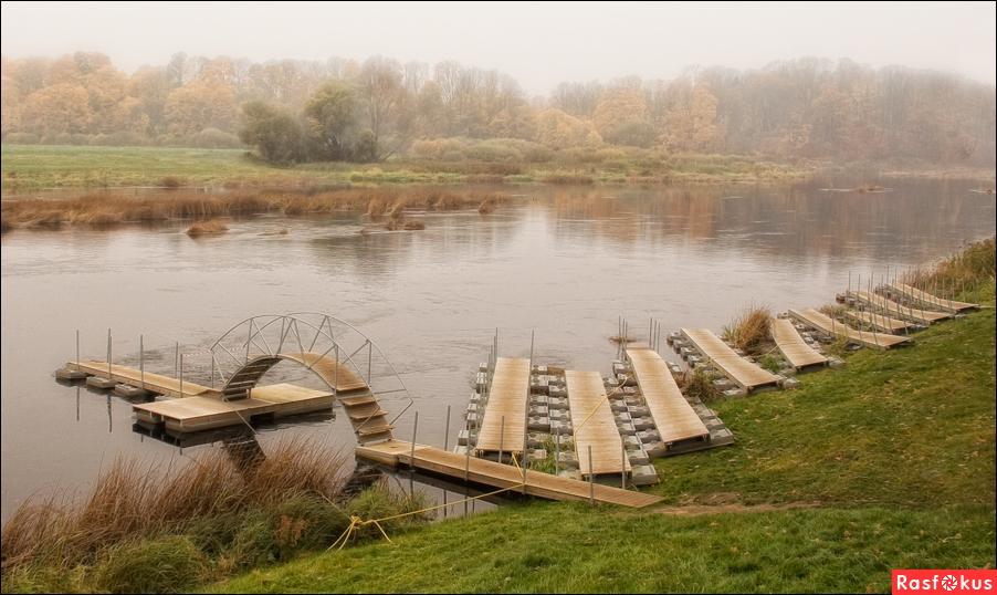 Понтонный мост своими руками