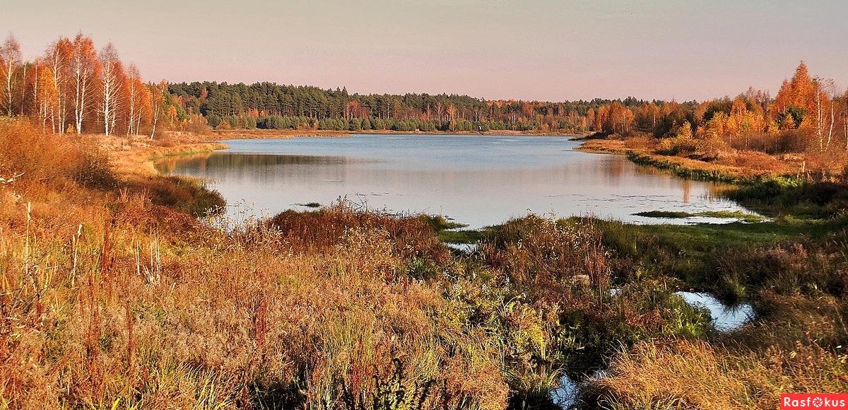 Панорама осеннего озера