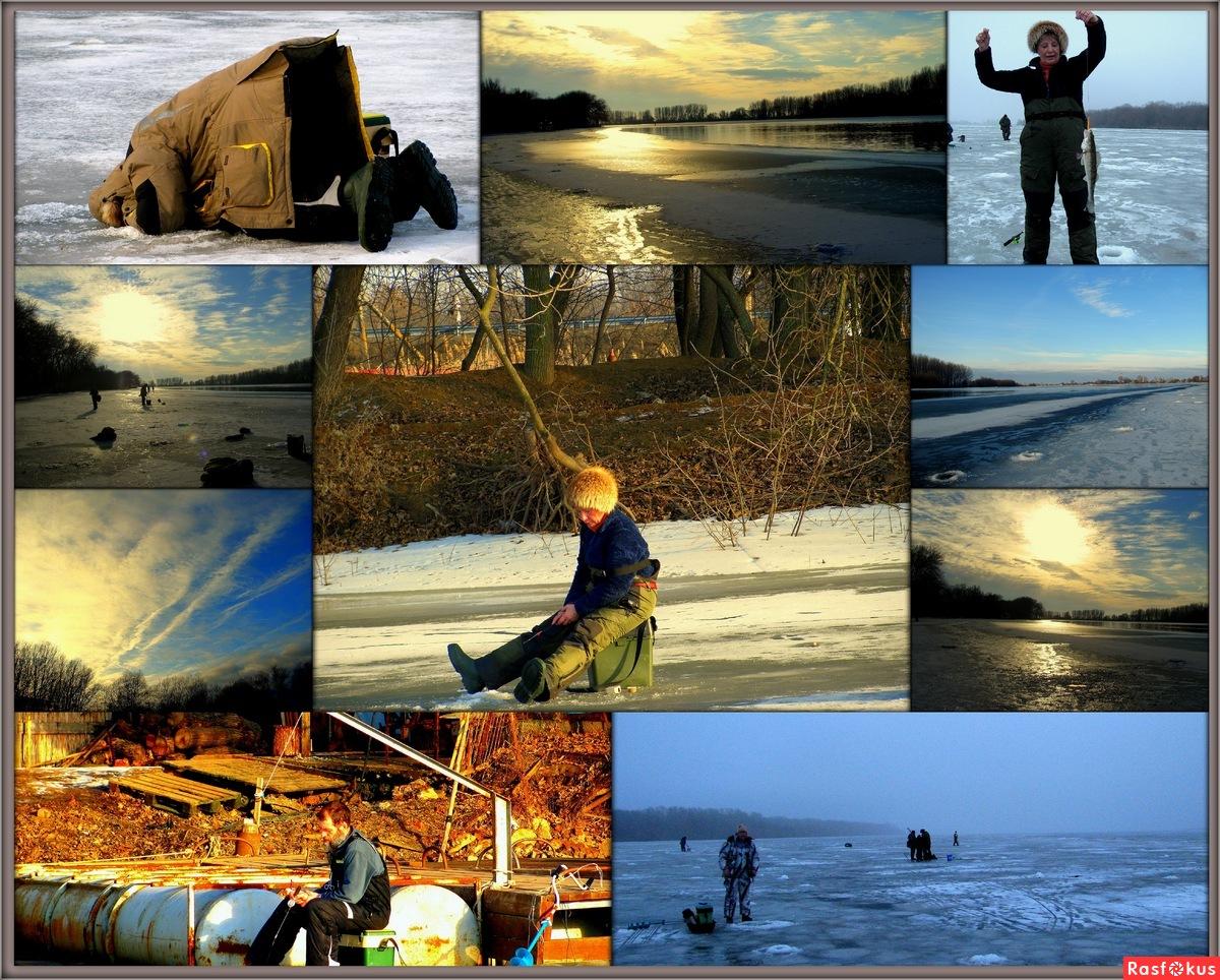 фотоколлаж с рыбаками