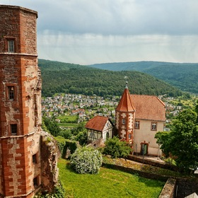 View of the Neckar Valley from the Ring Wall of the Castle DILSBERG ......
