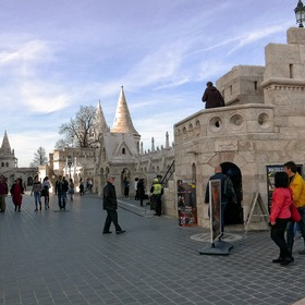 "The ""Fisherman's Bastion"" over the Danube ..."
