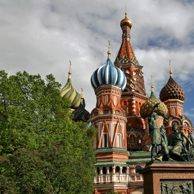 "The ""Basilius Cathedral"" in MOSCOW City...."