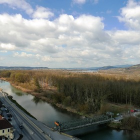 View of the Danube Valley, upstream...