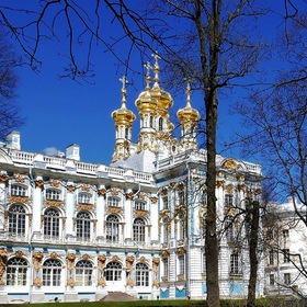 The Church of the Resurrection in the Catherine Palace....