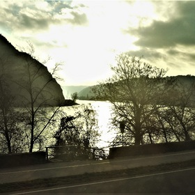 The Rhine River at OBERWESEL City ...