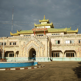 train station Bagan Myanmar