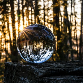 glass ball and sun