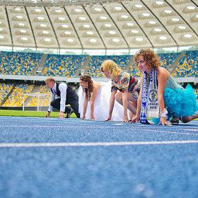 Heiraten im Fußballstadion