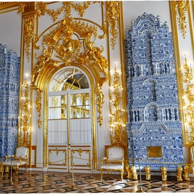 Inside the Catherine Palace ....