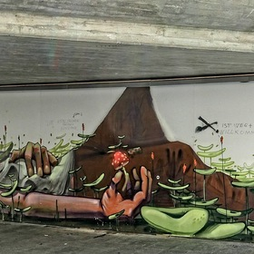 Painting in an Underpass