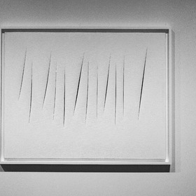 Spatial Concepts, Expectations. By Lucio Fontana.