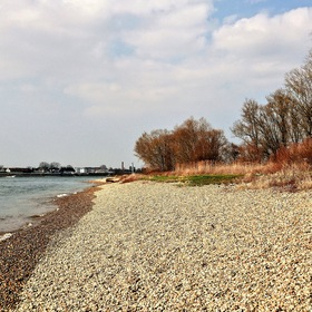 "the Rhine River near ""Speyer"" City, here without flood in March 2016 ..."